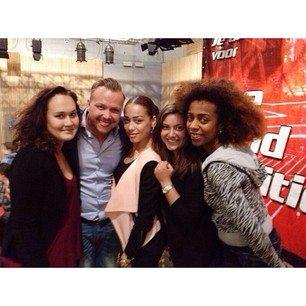 Met mijn mentorleerlingen Zoë, Kyara, Naomi en Jamai